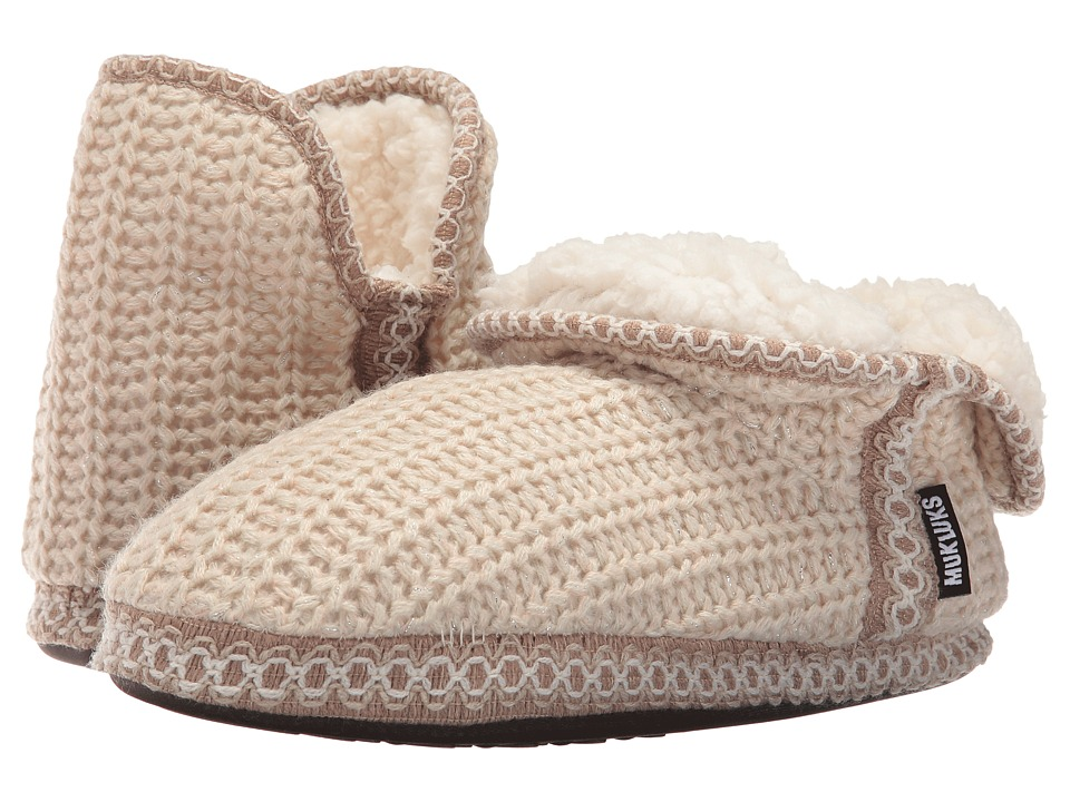 MUK LUKS - Amira Slipper (Ivory) Women's Slippers