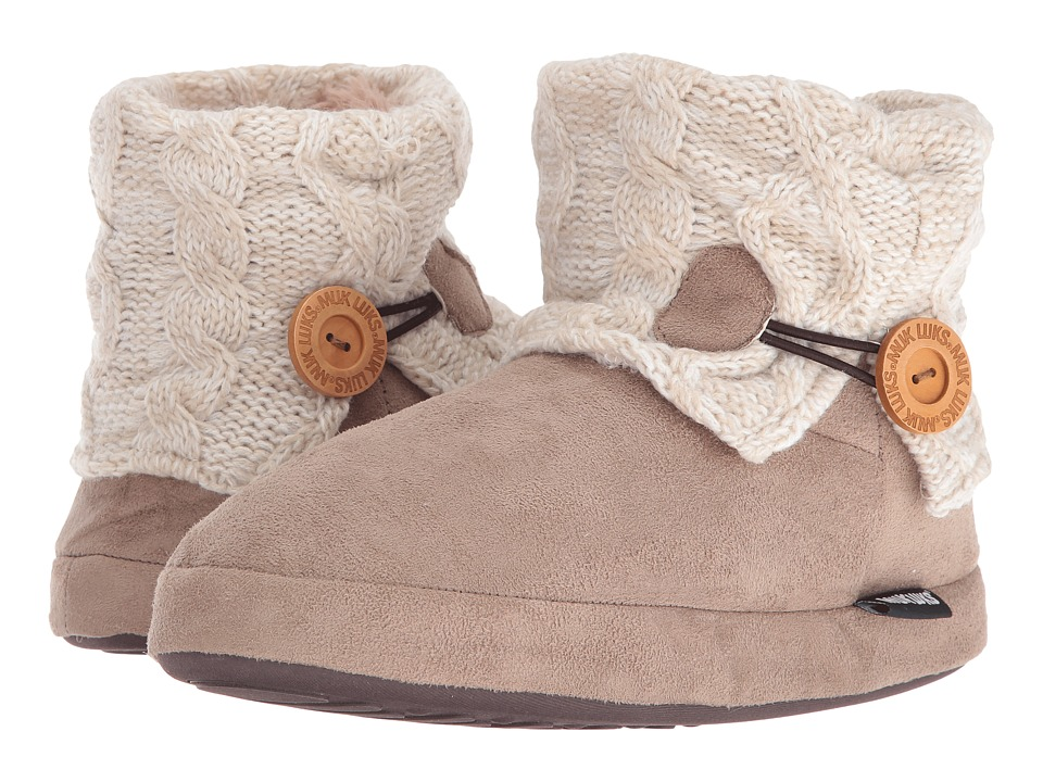 MUK LUKS - Patti Slipper (Ivory) Women's Slippers