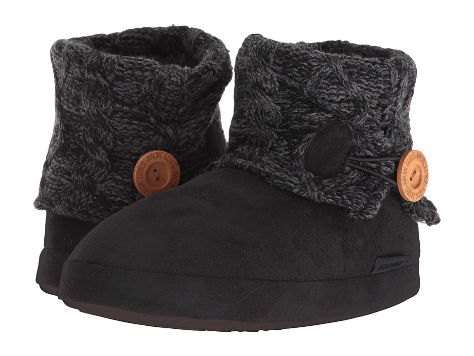 MUK LUKS - Patti Slipper (Black) Women's Slippers