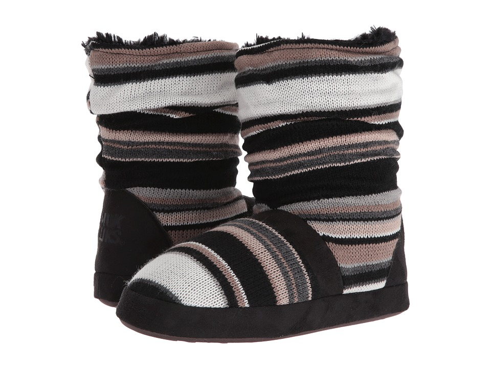 MUK LUKS - Jenna Slipper (Neutral/Black) Women's Slippers