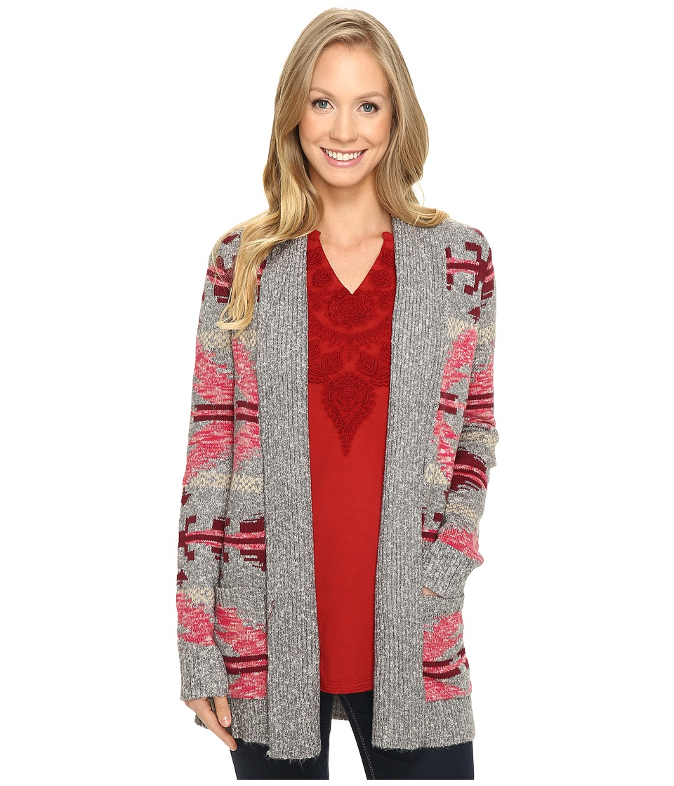 Lucky Brand Intarsia Sweater Coat (Multi) Women