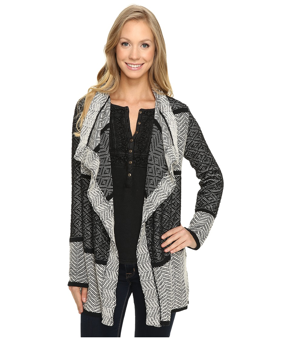 Lucky Brand - Weave Drape Cardigan (Multi) Women's Sweater