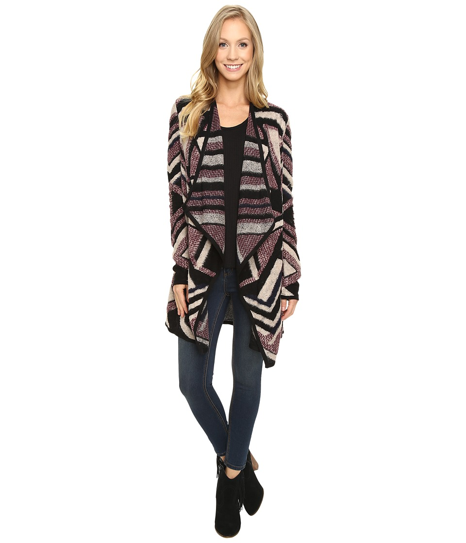 Lucky Brand - Intarsia Cardigan (Multi) Women's Sweater