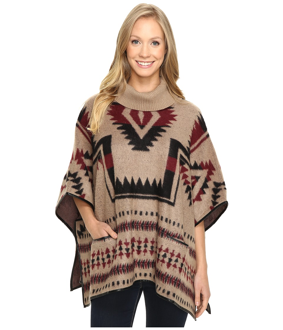 Lucky Brand - Aztec Poncho (Natural Combo) Women's Coat