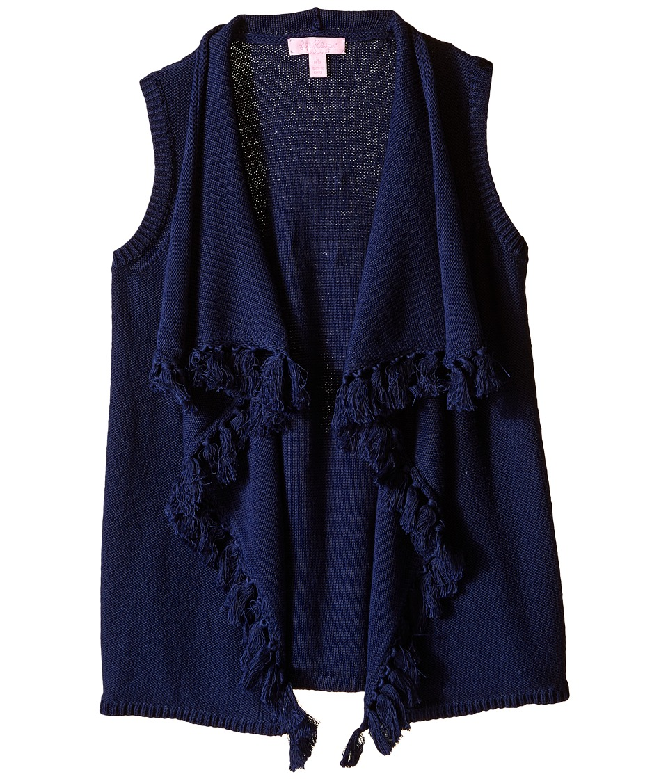 Lilly Pulitzer Kids - Mini Abbott Sweater Vest (Little Kids/Big Kids) (True Navy) Girl's Vest