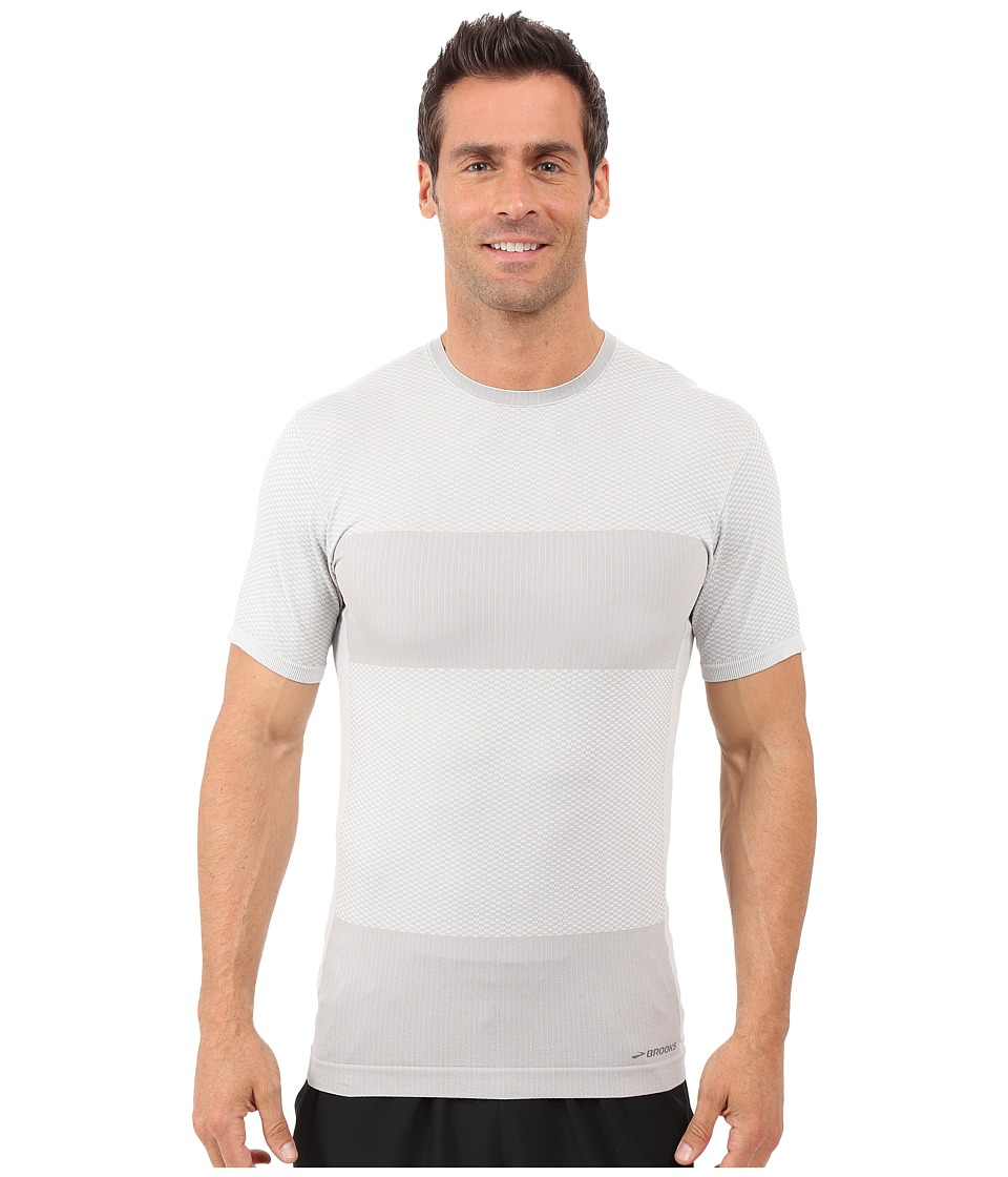 Brooks - Streaker Short Sleeve Shirt (Sterling Heather) Men's Short Sleeve Pullover