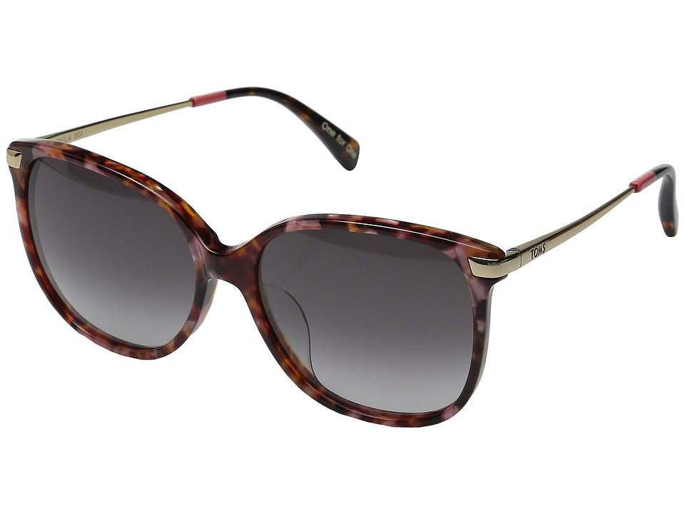 TOMS - Sandela (Hibiscus/Whiskey Gray Gradient) Fashion Sunglasses