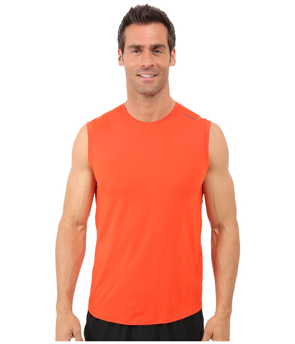 Brooks - Steady Sleeveless Shirt (Desert) Men's Sleeveless