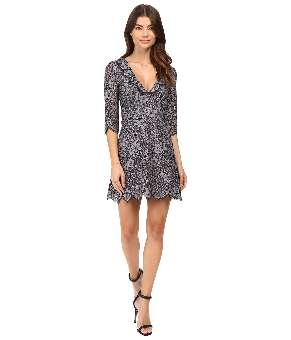 For Love and Lemons - Theodora Mini Dress (Vintage Grey) Women's Dress