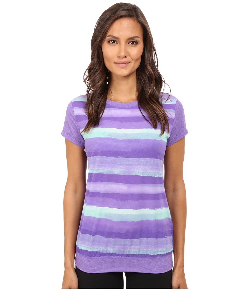 Brooks - Run-Thru Short Sleeve Top (Dusk Scape) Women's Short Sleeve Pullover