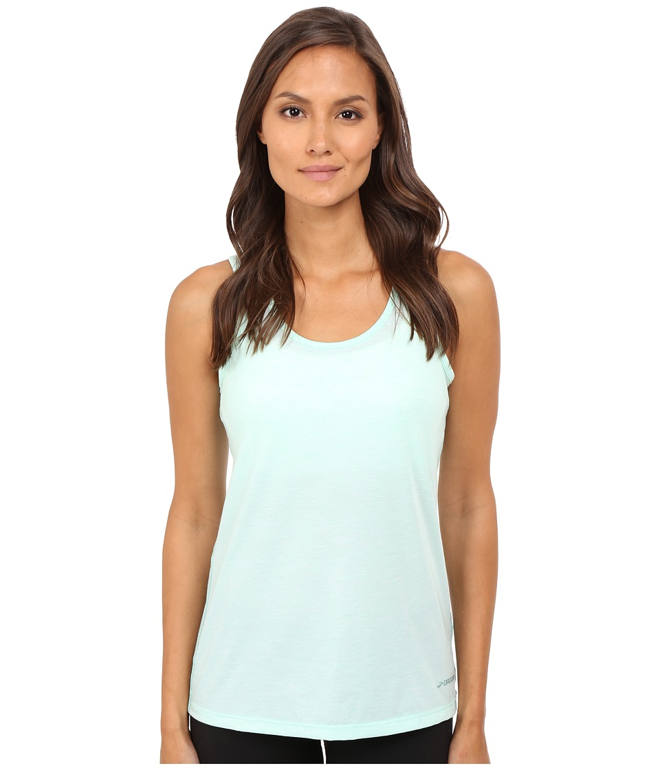 Brooks - Distance Tank Top (Heather Surf) Women's Sleeveless