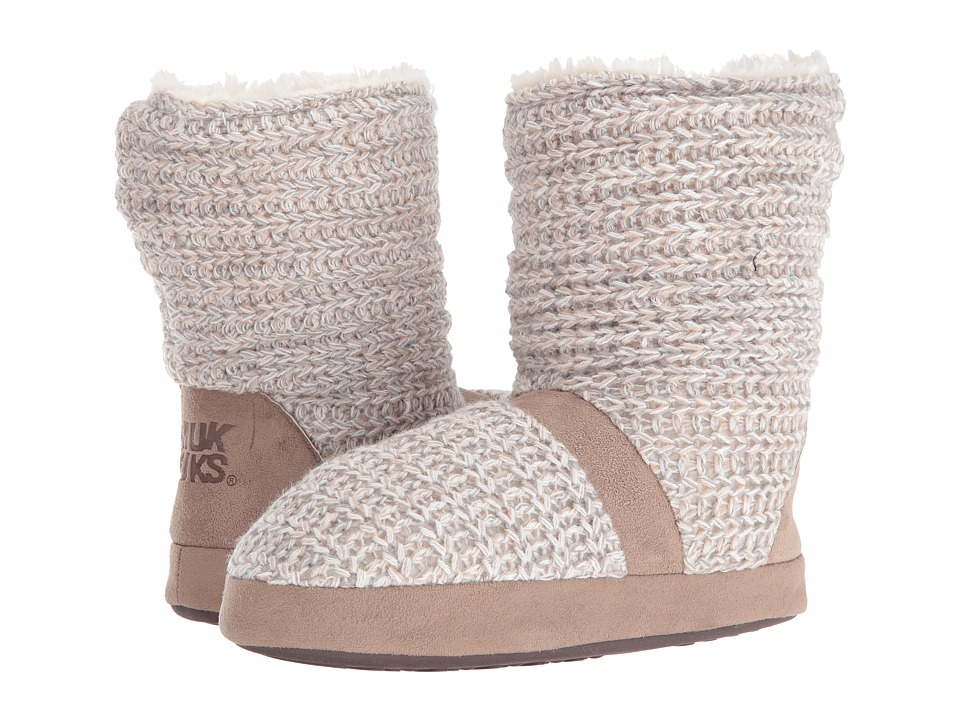 MUK LUKS - Jenna Slipper (Winter White) Women's Slippers