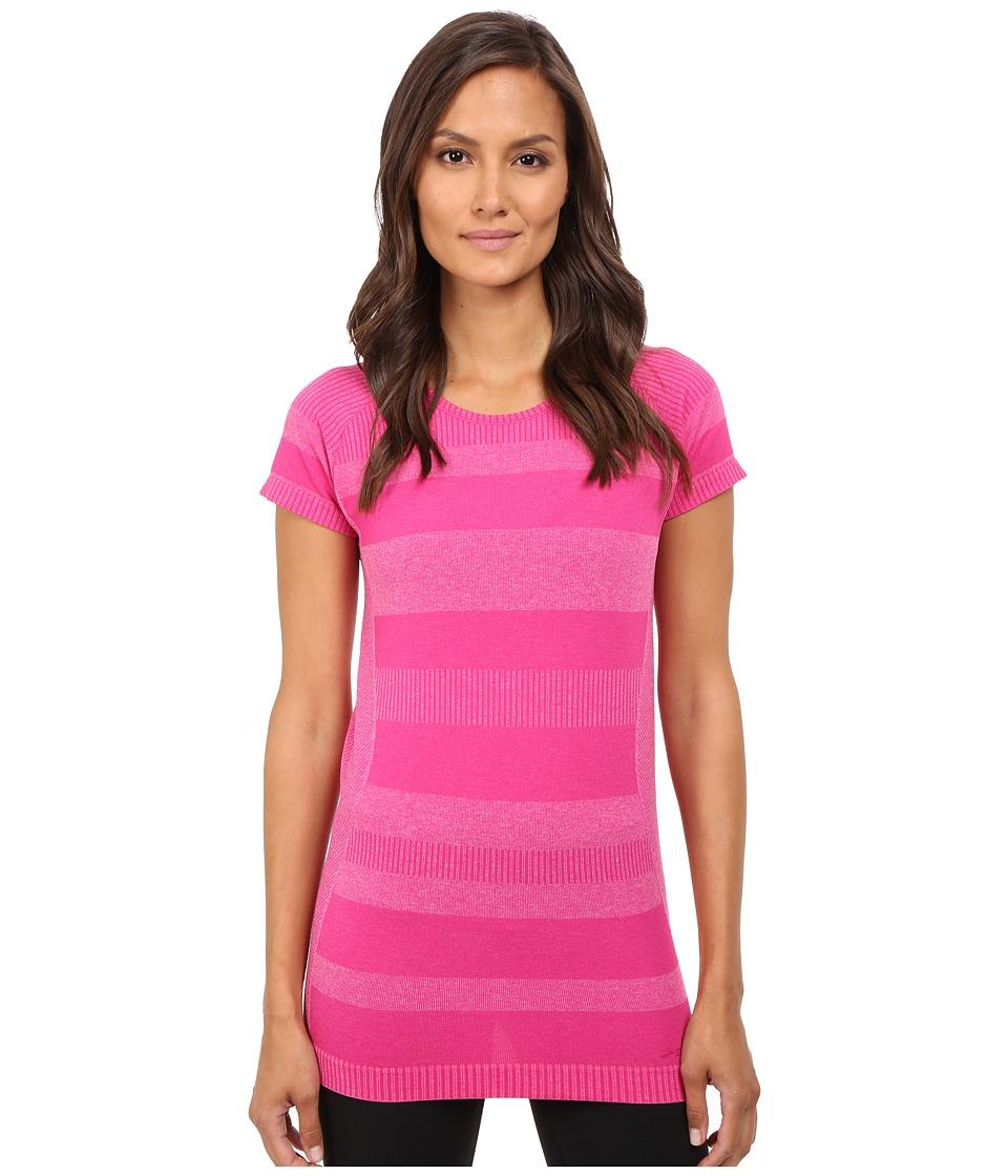 Brooks - Streaker Short Sleeve Top (Heather Bloom) Women's Short Sleeve Pullover