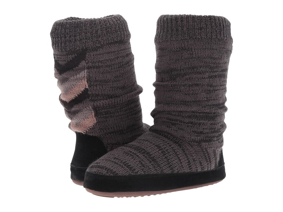 MUK LUKS - Vanessa Slipper (Black Marl) Women's Slippers