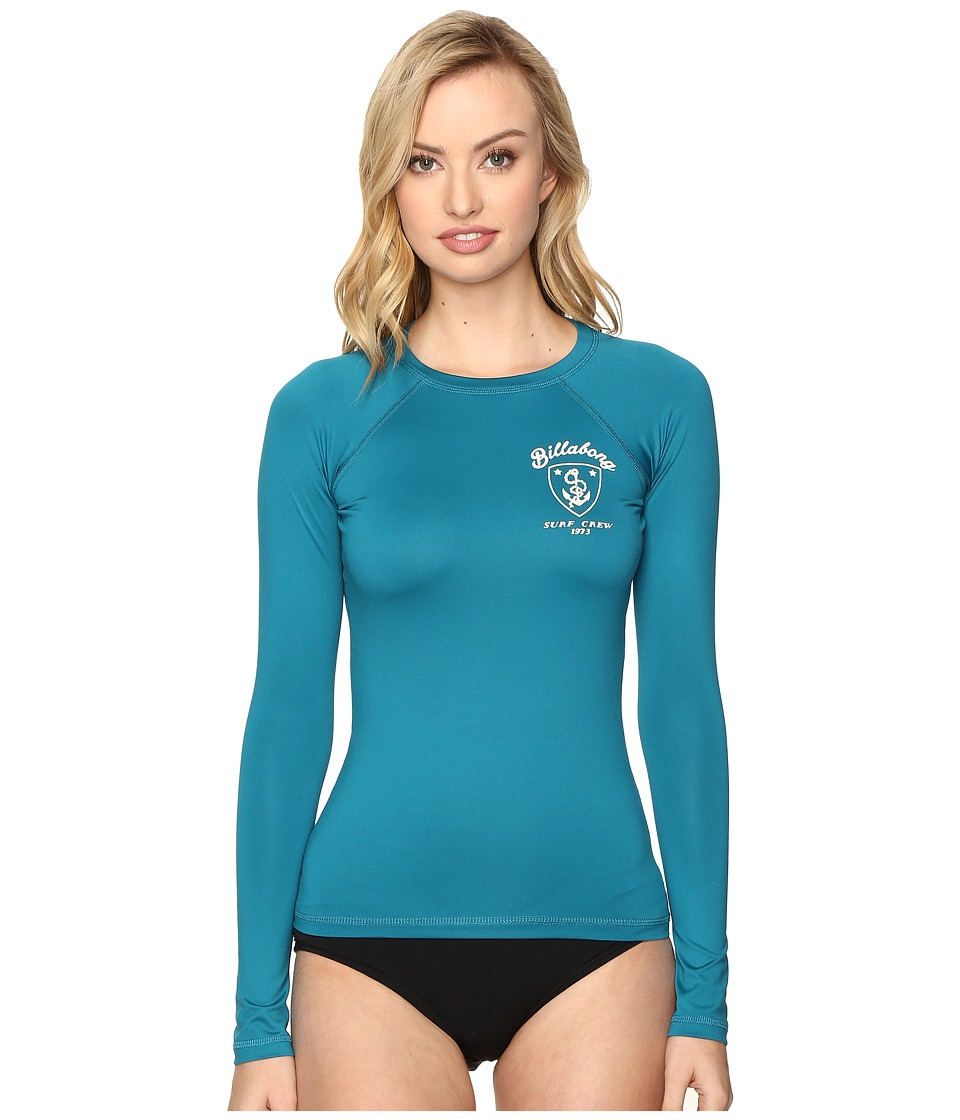 Billabong - Sol Searcher Long Sleeve Rashguard (Moroccan Blue) Women's Swimwear