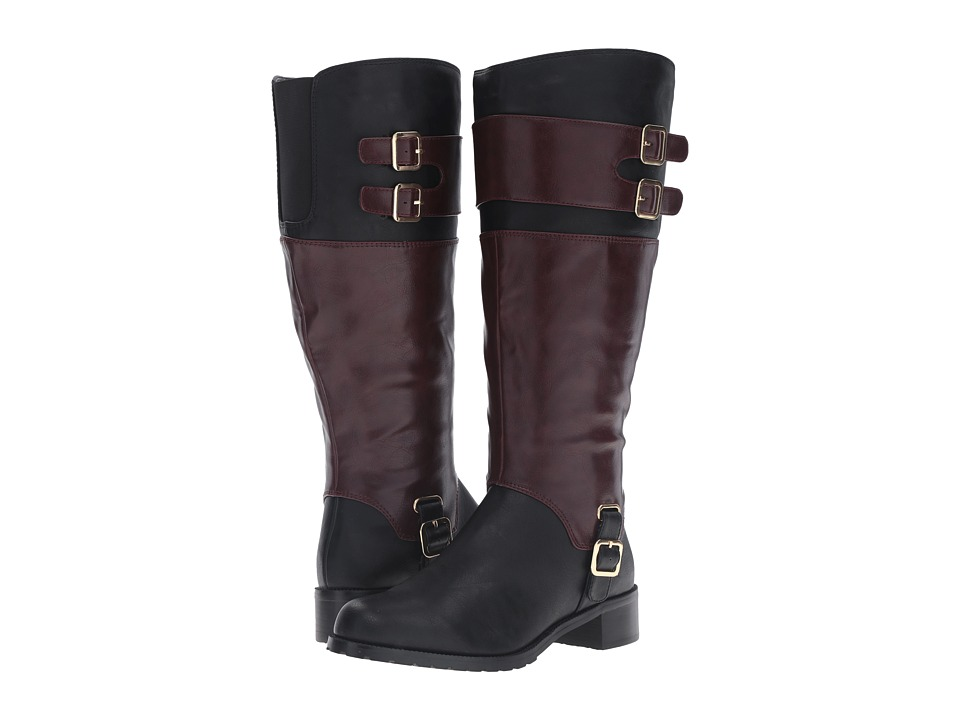 Image of Bella-Vita - Adriann II Plus (Black/Burgundy) Women's Pull-on Boots