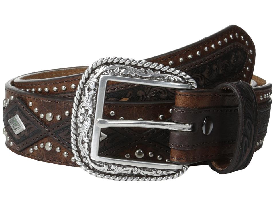 Ariat - Diamond Concho Belt (Aged Bark) Men's Belts