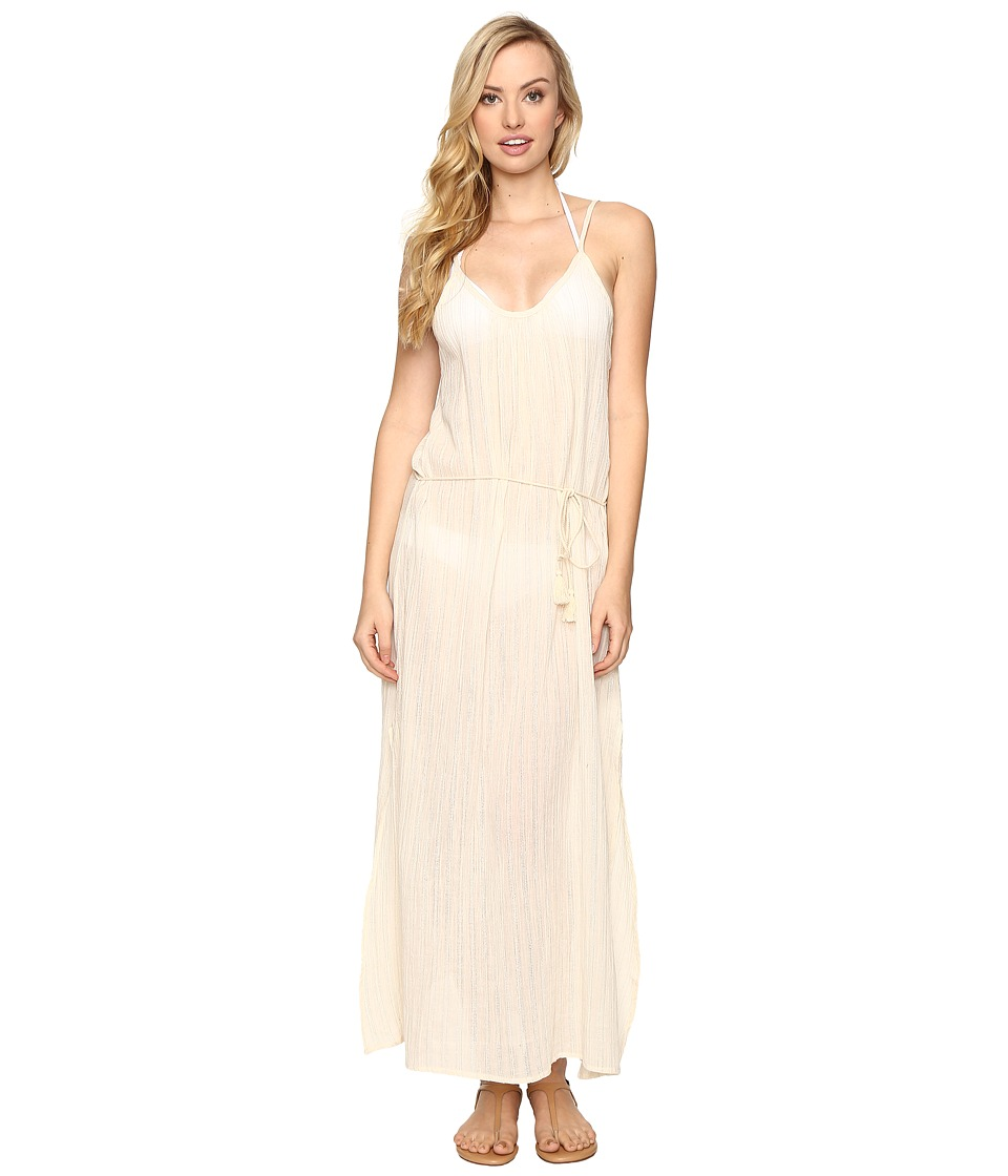 Billabong - Lex Maxi Dress Cover-Up (White Cap) Women's Swimwear