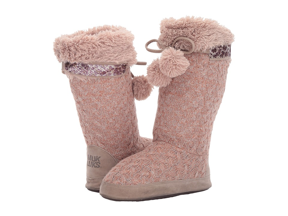 MUK LUKS - Chanelle Slipper (Pink) Women's Slippers