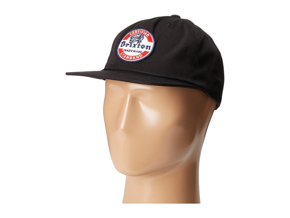 Brixton - Soto Snapback (Black/White) Caps