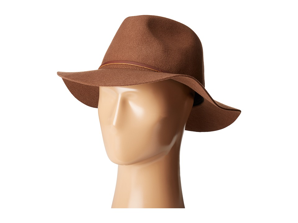 Brixton - Wesley Fedora (Dark Tan) Traditional Hats