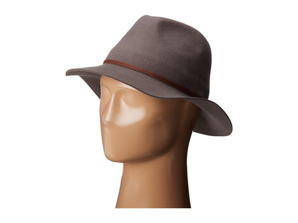 Brixton - Wesley Fedora (Charcoal) Traditional Hats