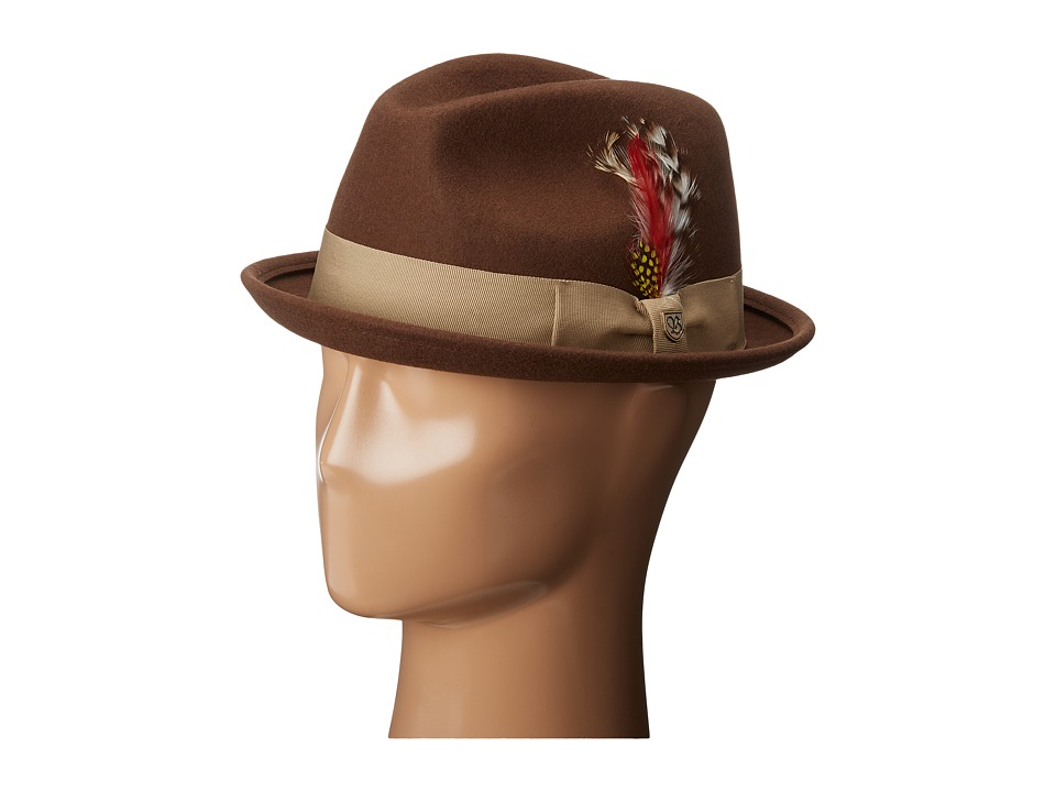 Brixton - Gain Fedora (Light Brown) Fedora Hats