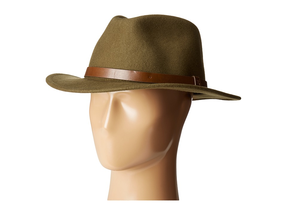 Brixton - Messer Fedora (Light Olive) Fedora Hats