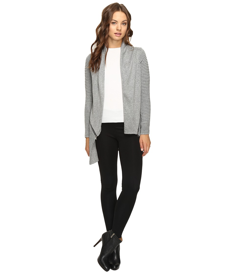 Christin Michaels - Ramona Ribbed Cardigan (Grey) Women's Sweater