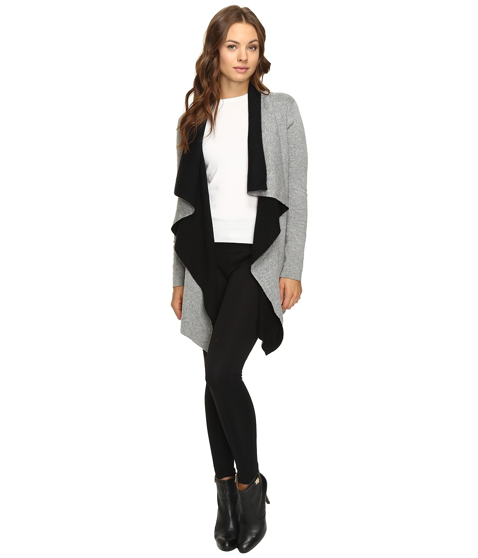 Christin Michaels - Estella Two-Tone Cardigan (Grey/Black) Women's Sweater