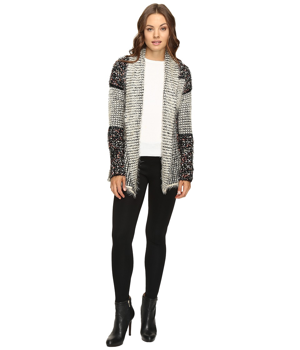 Christin Michaels - Felicity Fuzzy Cardigan (Multi) Women's Sweater