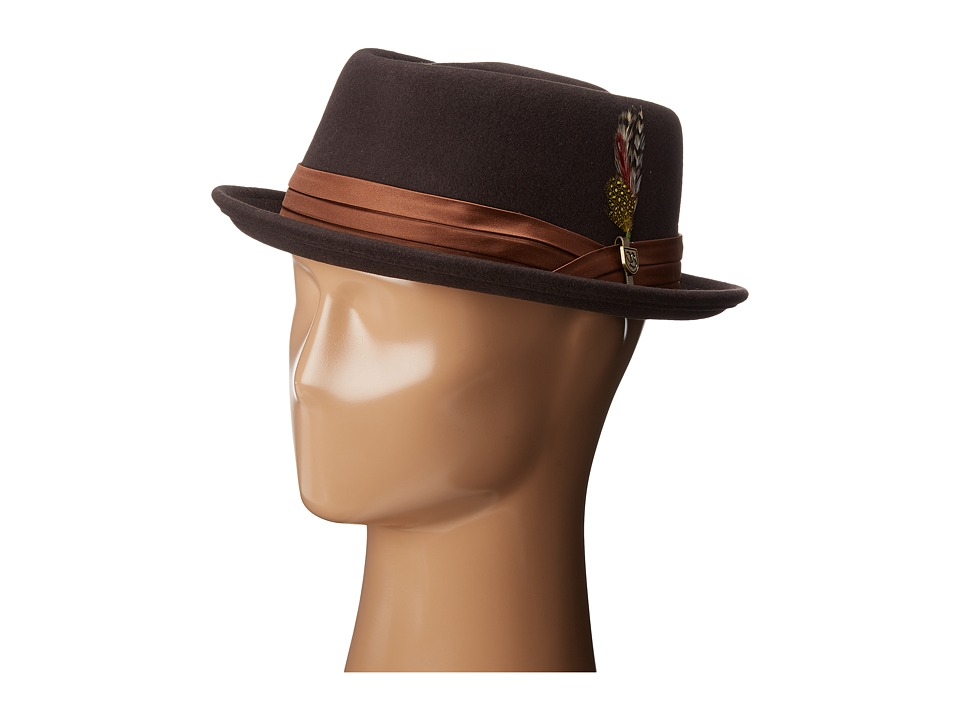 Brixton - Stout Pork Pie Hat (Chocolate) Traditional Hats
