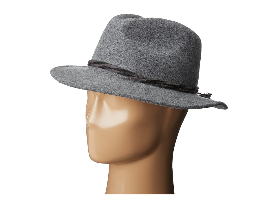 Brixton - Corbet Fedora (Heather Grey) Fedora Hats
