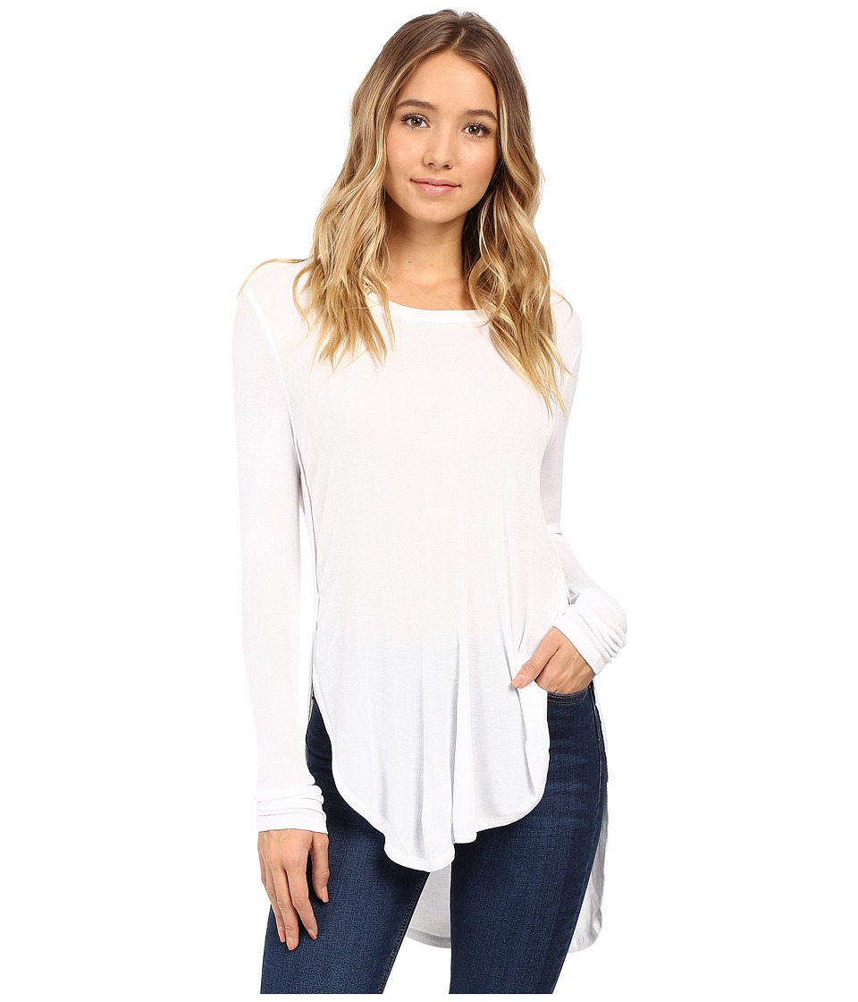 Culture Phit - Leda Long Sleeve Top with Side Slits (White) Women's Clothing