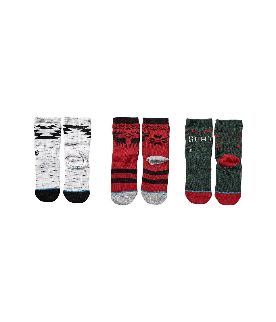 Stance - Toboggan (Infant/Toddler) (Green) Men's Crew Cut Socks Shoes