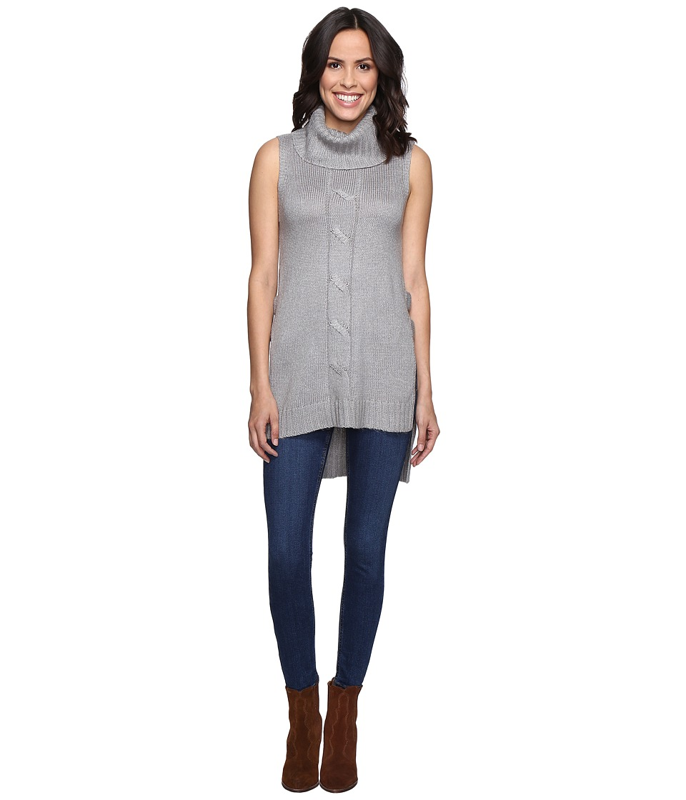 Brigitte Bailey - Bette Cowl Neck Sweater Vest with Open Sides (Grey) Women's Vest