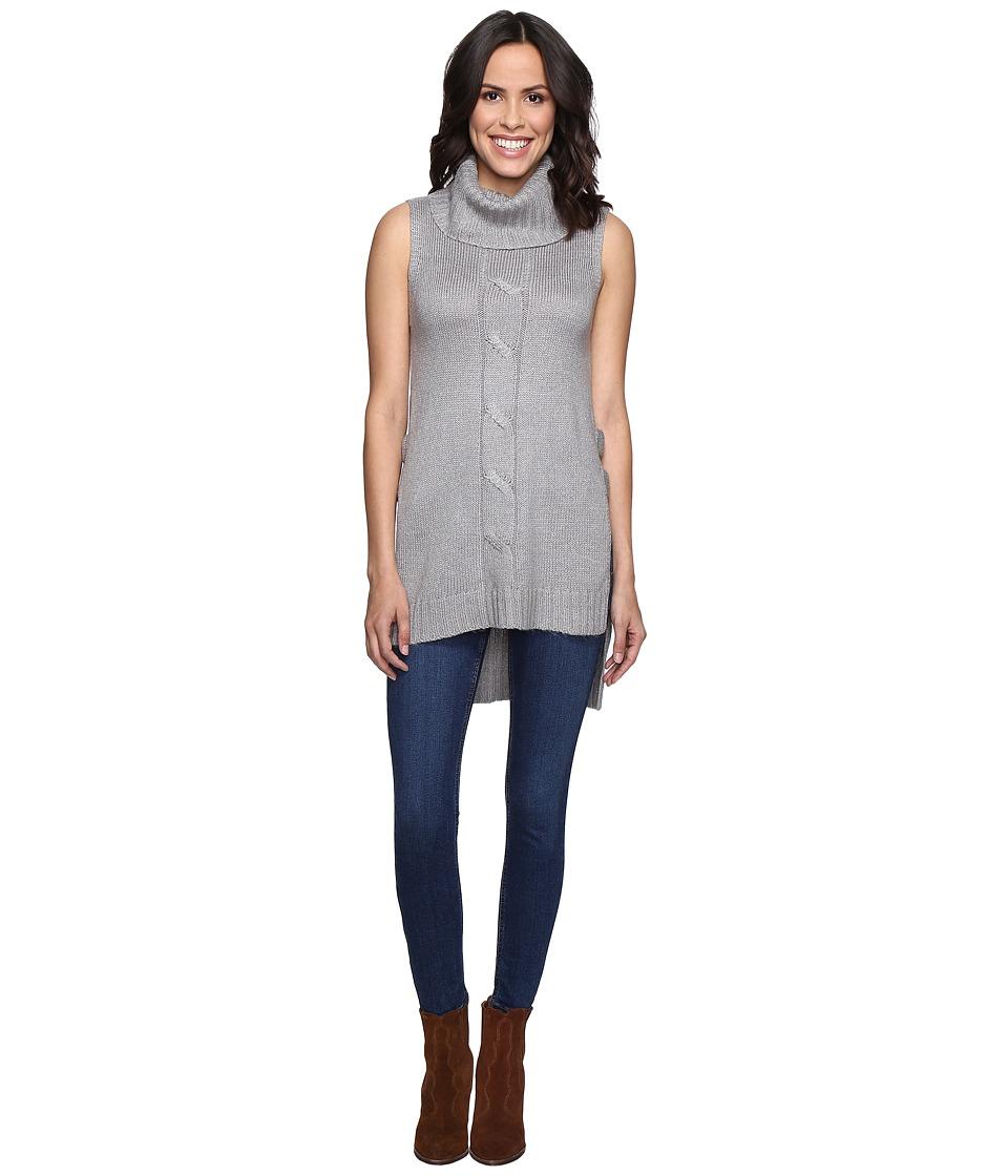 Brigitte Bailey - Bette Cowl Neck Sweater Vest with Open Sides (Grey) Women's Vest