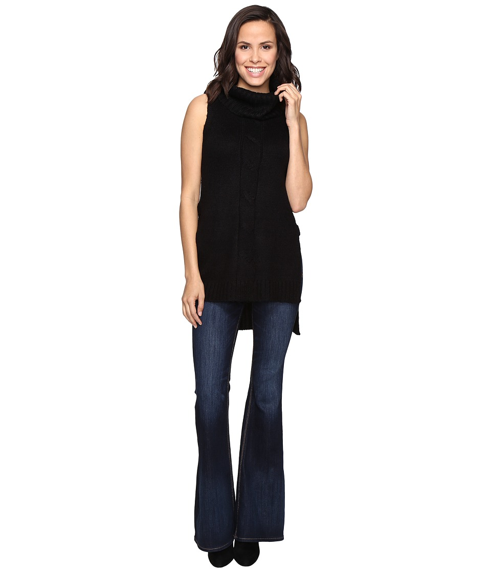 Brigitte Bailey - Bette Cowl Neck Sweater Vest with Open Sides (Black) Women's Vest