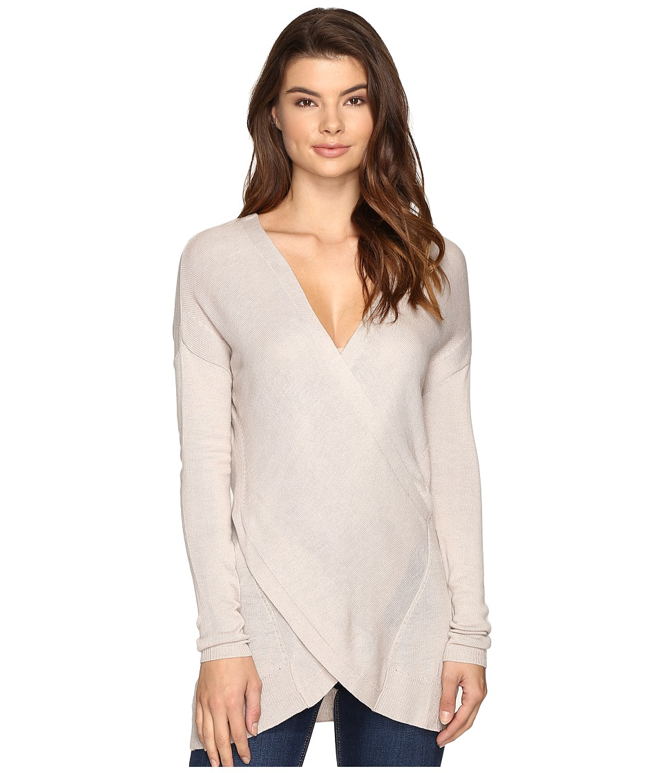 Brigitte Bailey - Amaris Cross-Front Sweater (Pumice Stone) Women's Sweater