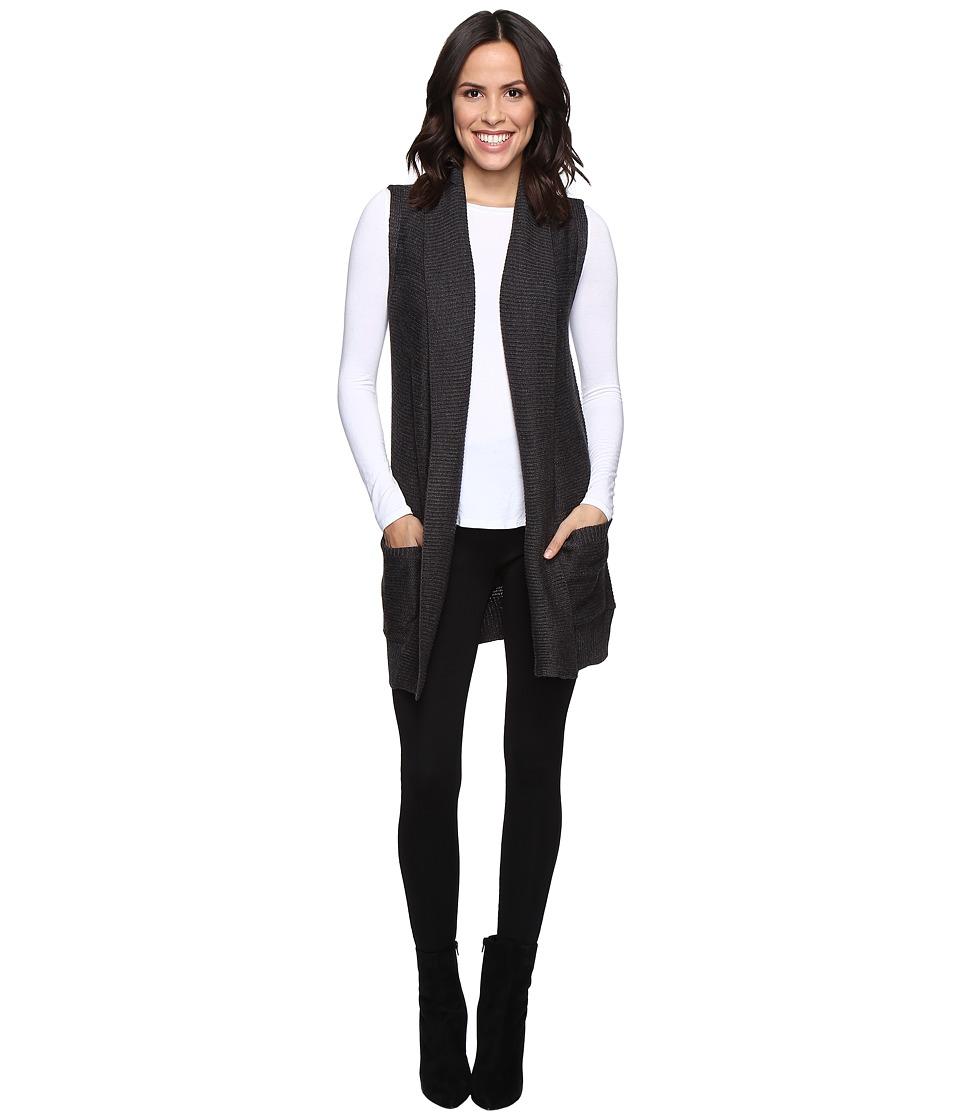 Brigitte Bailey - Alessia Open Sweater Vest with Pockets (Ash Grey) Women's Vest