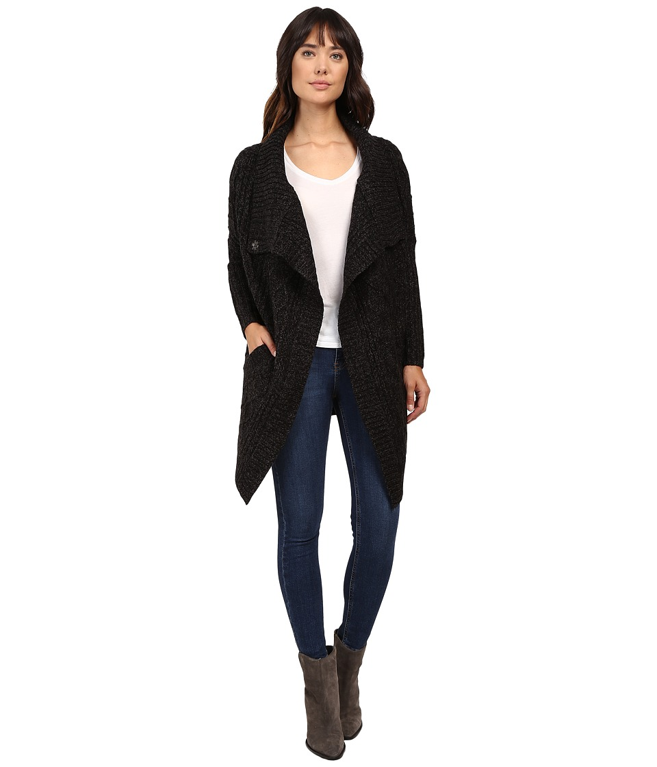 Brigitte Bailey - Chiara Long Sleeve Cardigan (Black) Women's Sweater