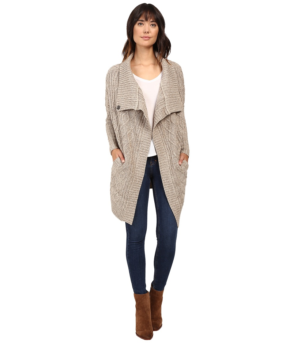 Brigitte Bailey - Chiara Long Sleeve Cardigan (Oatmeal) Women's Sweater