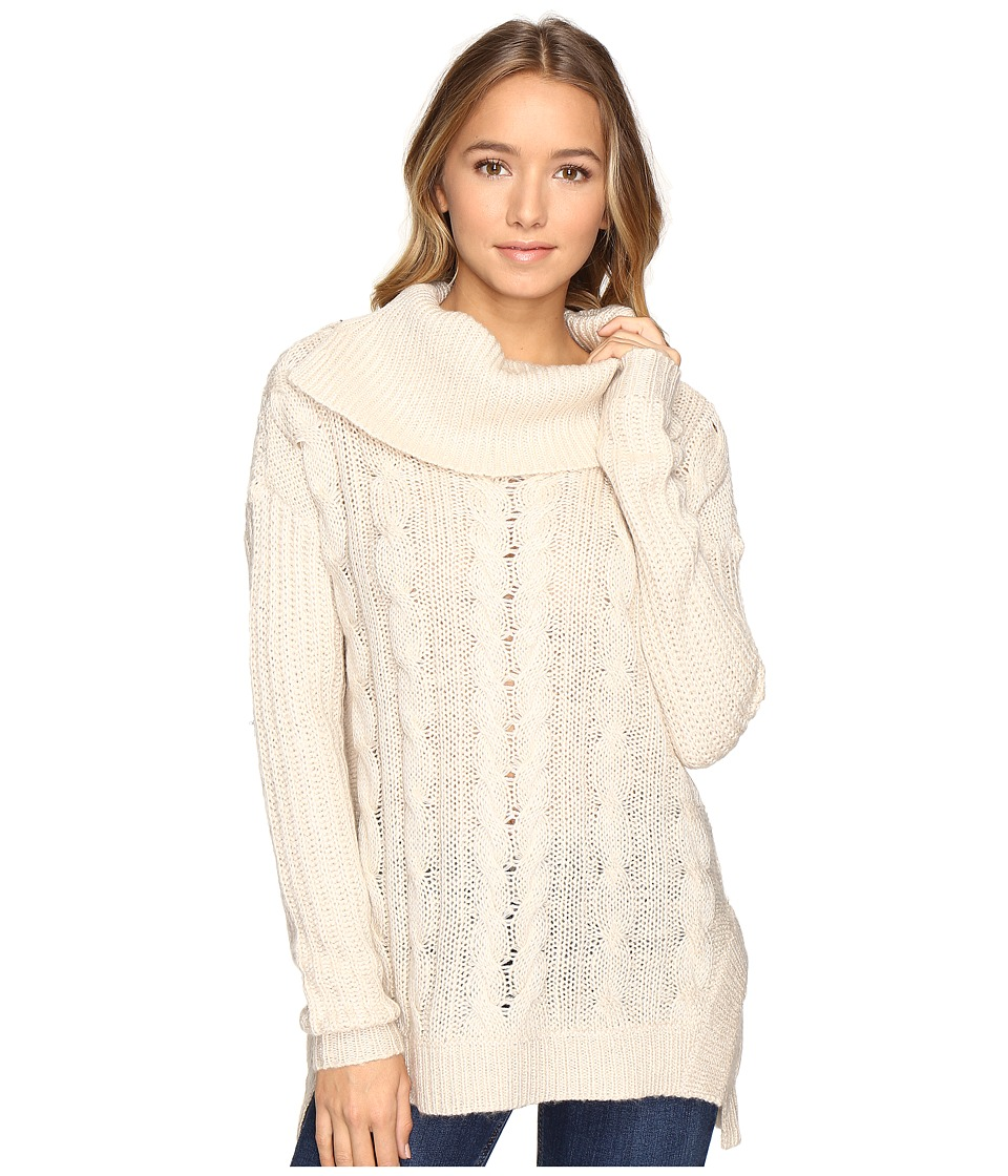 Brigitte Bailey - Aislyn Cable Knit Cowl Neck Sweater (Oatmeal) Women's Sweater