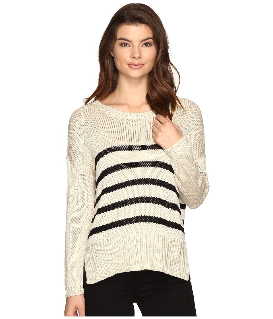 Brigitte Bailey Darcia Striped Long Sleeve Sweater (Ivory/Black) Women