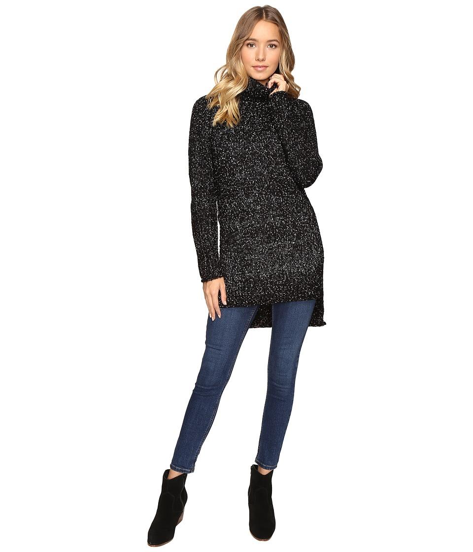 Brigitte Bailey - Cameo Turtleneck Sweater with Side Slits (Black) Women's Sweater