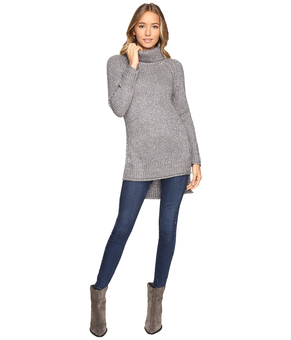 Brigitte Bailey - Cameo Turtleneck Sweater with Side Slits (Light Grey) Women's Sweater