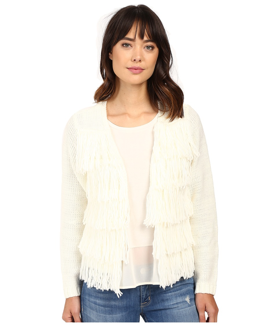 Brigitte Bailey - Dharma Fringed Sweater (Off-White) Women's Sweater