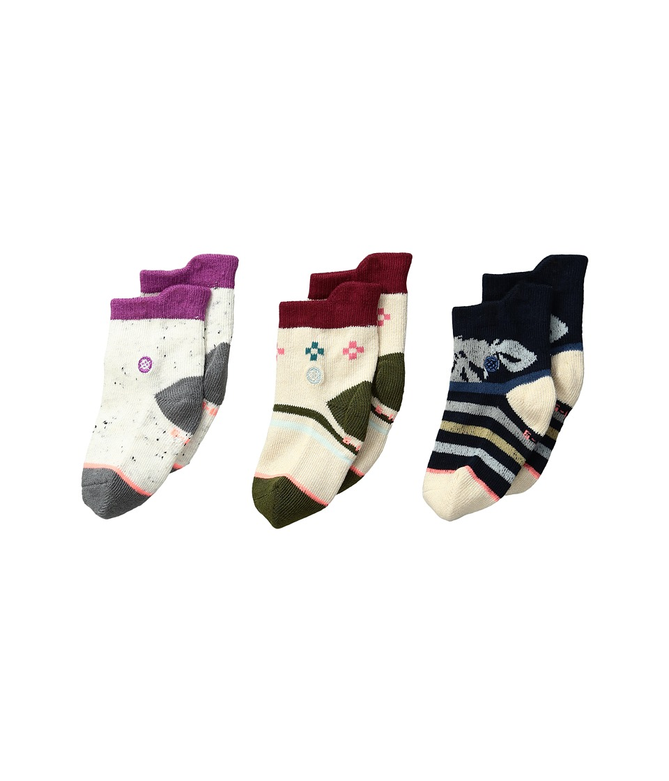 Stance - Cuban Flower Box Set (Infant) (Multi) Women's Crew Cut Socks Shoes