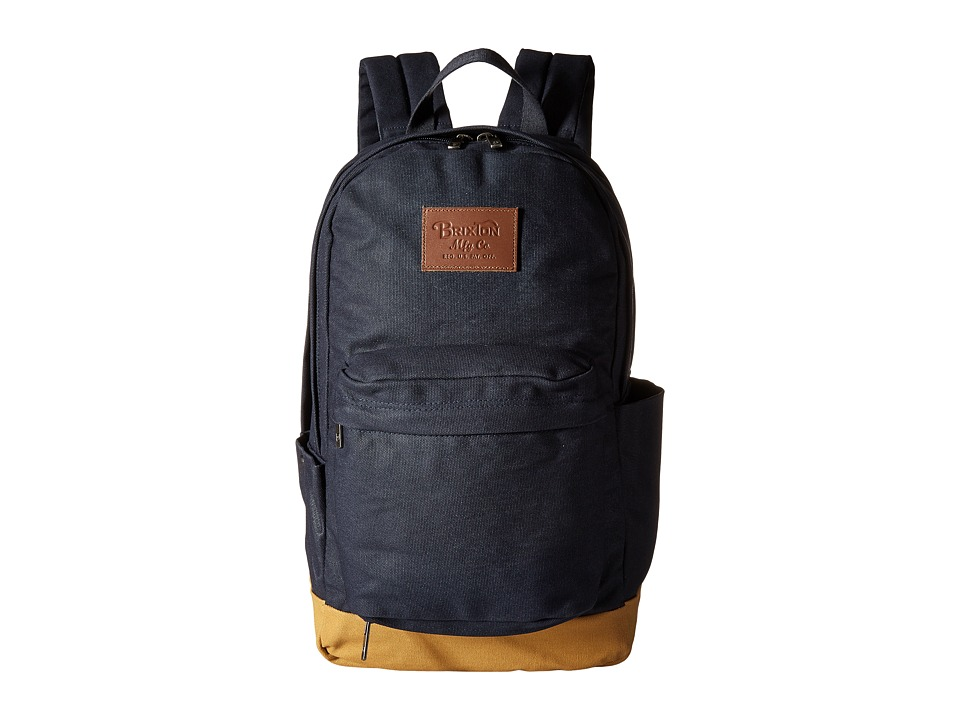 Brixton - Basin Waxed Backpack (Navy/Khaki) Backpack Bags