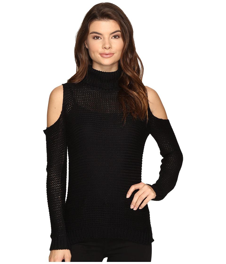 Brigitte Bailey - Caressa Ribbed Cold Shoulder Sweater (Black) Women's Sweater